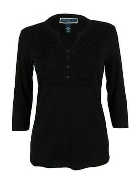 895ae3a89bf1b Product Image Karen Scott Women s 3 4 Sleeve Split Neck Top