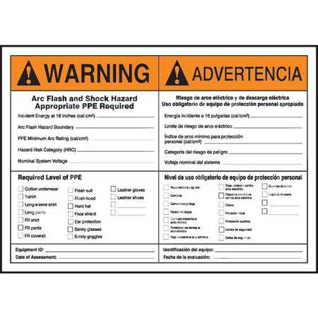 ACCUFORM SIGNS SBLELC336 Label, 7x10, Warning Arc Flash and