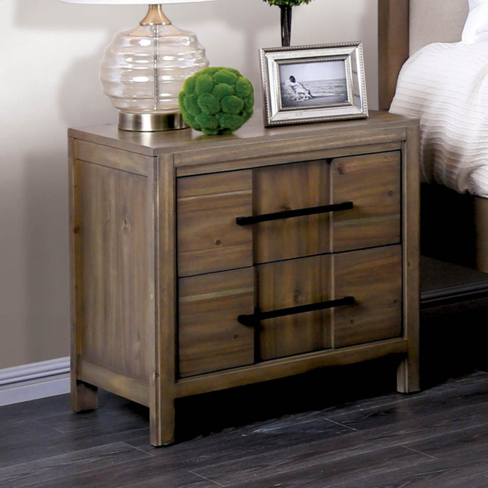 Furniture Of America Lowell 2 Drawer Nightstand