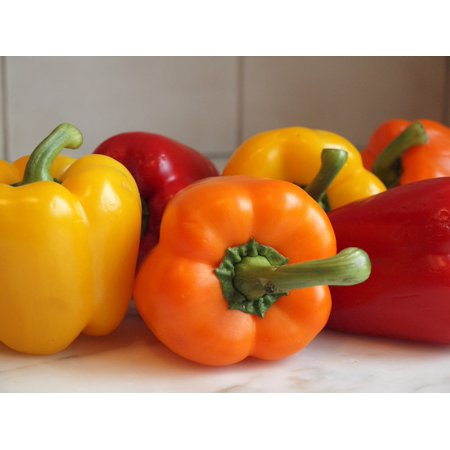 Tasty Colorbell Pepper Mixed - 4 Plants - Green, Yellow, Purple, (Saving Pepper Seeds To Plant Next Year)