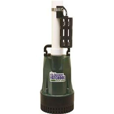 Basement Watchdog Submersible Sump Pump, Cast Iron/Aluminum, 1/2 Hp
