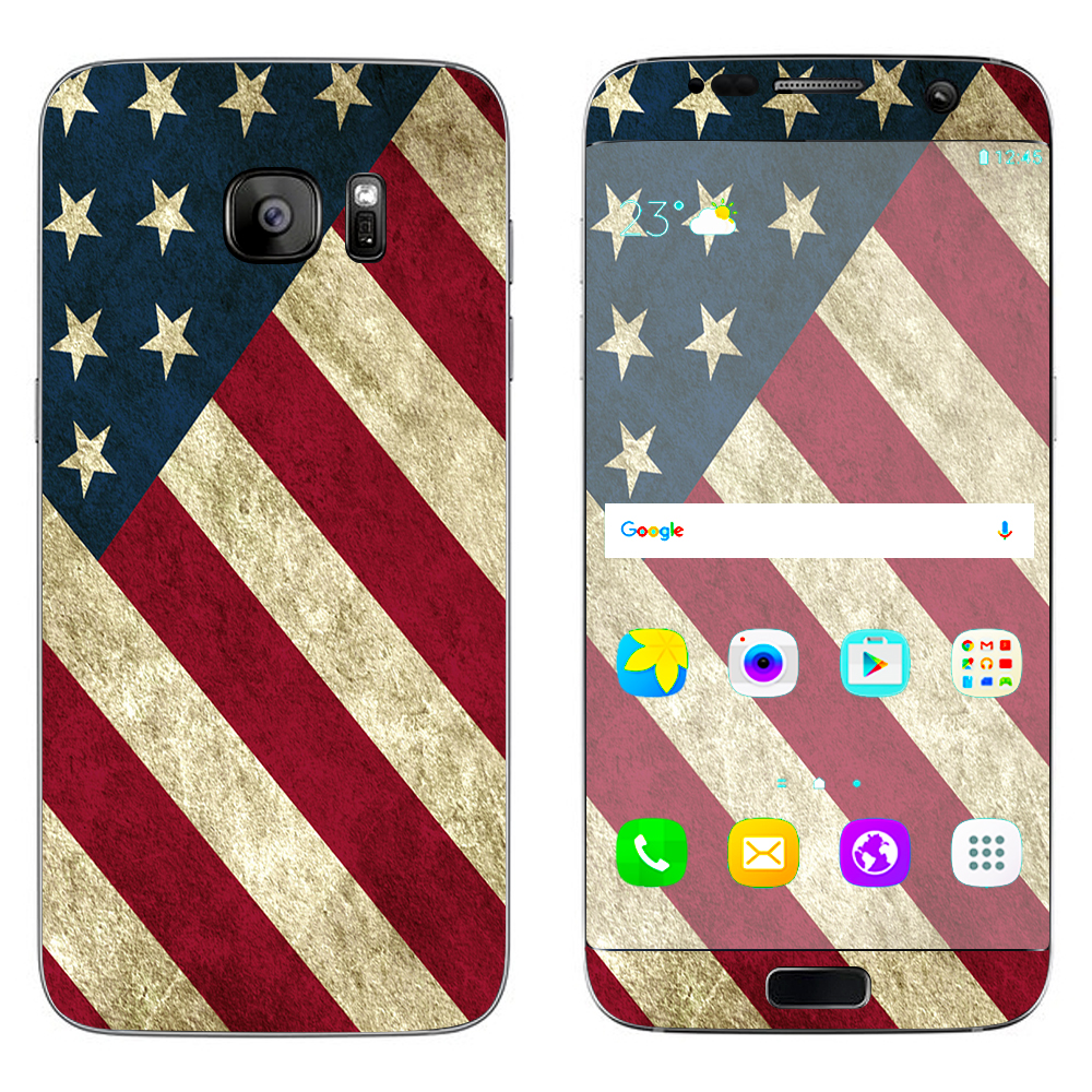 Skins Decals For Samsung Galaxy S7 Edge / America Flag Pattern