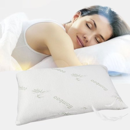Pillows for Sleeping Hypoallergenic Bed Pillow for Side Sleeper Loft Bamboo Memory Foam