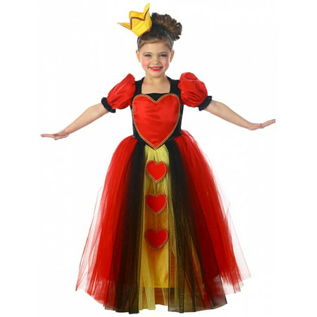 Princess Queen of Hearts Child Costume - Small - Princess And Queen Halloween Costumes