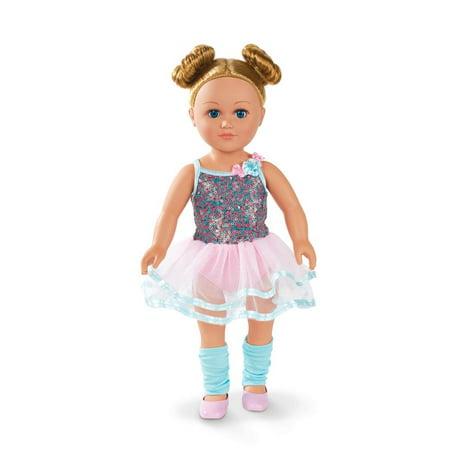 My Life As 18-inch Poseable Hiplet Ballerina Doll, Blonde Hair