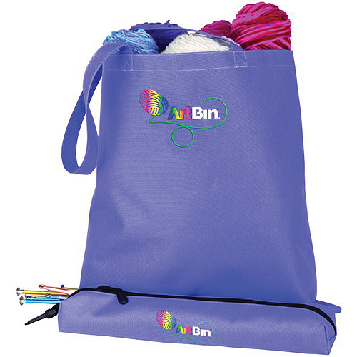 ArtBin Needle Arts Tote with Accessory Pouch, Periwinkle