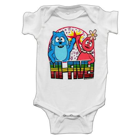Yo Gabba Gabba Toodle And Foofa Hi Five Mini Fine Cartoon Baby Snapsuit