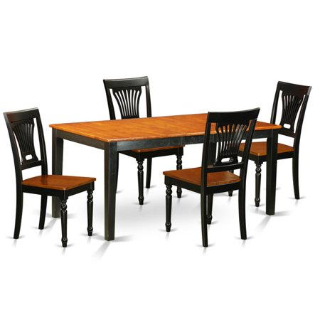 East West Furniture Nicoli 5 Piece Empire Dining Table Set