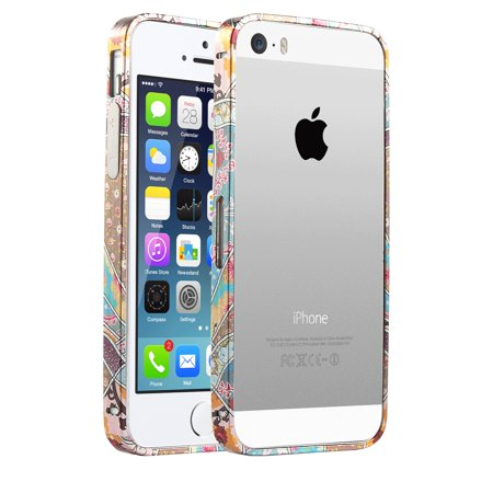 low priced 7dc1d 452d5 iPhone 5S Case,iPhone 5 Case,ULAK ® Bumper Metallic Frame Case Cover for  iPhone5 5S with Side Protection Arc Bumper and Slim Metal Frame Case