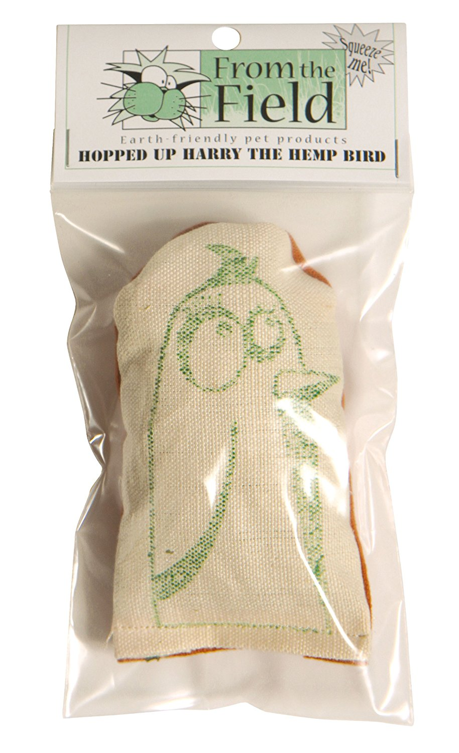 Hopped Up Harry The Hemp Bird Catnip Toy, Made in USA By From The Field by