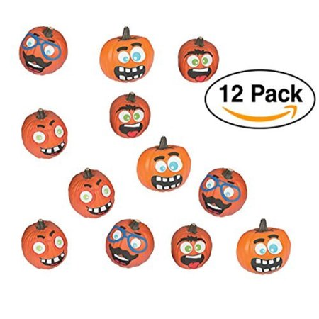 halloween funny face pumpkin decorating premium craft kit foam stickers 12 pumpkins
