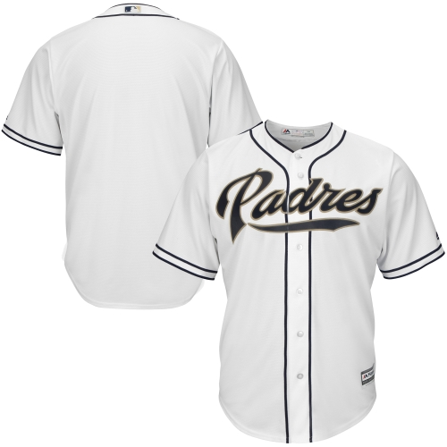 San Diego Padres Majestic Youth Official Cool Base Jersey - White
