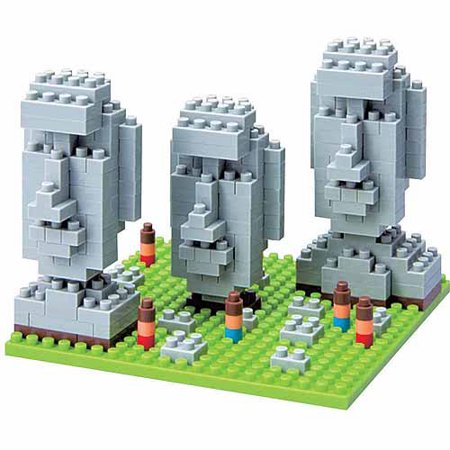 Nanoblock Sites to See Level 2, Moai Statues of Easter Island:
