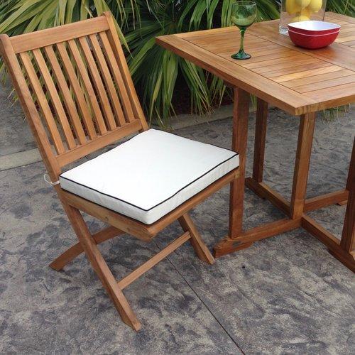 Chic Teak Santa Barbara Indoor Outdoor Dining Chair Cushion by
