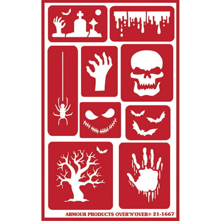 Happy Halloween Stencil (Over 'N' Over Reusable Stencils, 5
