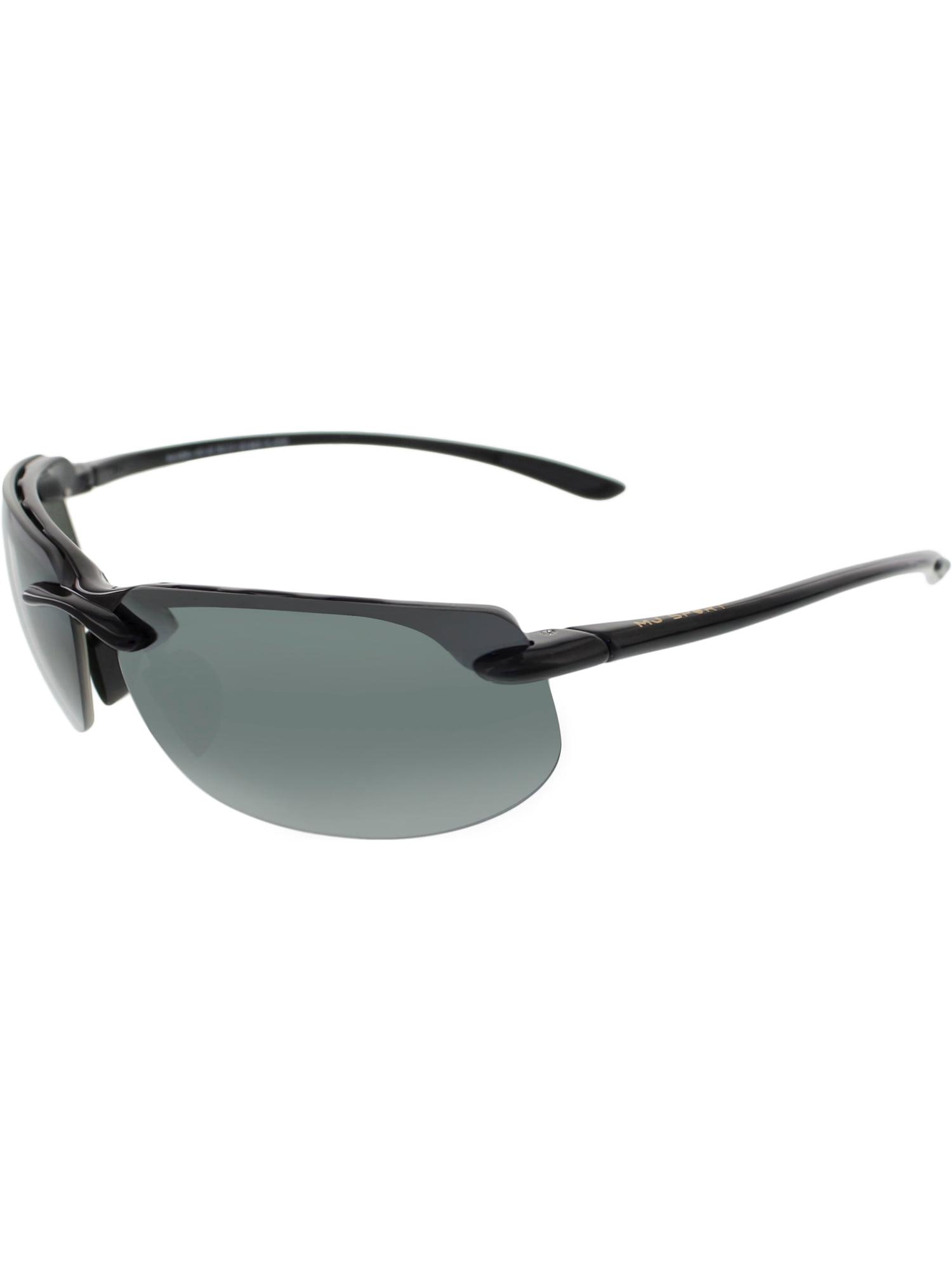 5638b47e2e75 Maui Jim - Maui Jim Men's Polarized Banyans 412-02 Black Rectangle  Sunglasses - Walmart.com