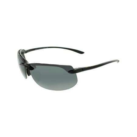 79ac6e466d4b Maui Jim - Maui Jim Men's Polarized Banyans 412-02 Black Rectangle  Sunglasses - Walmart.com