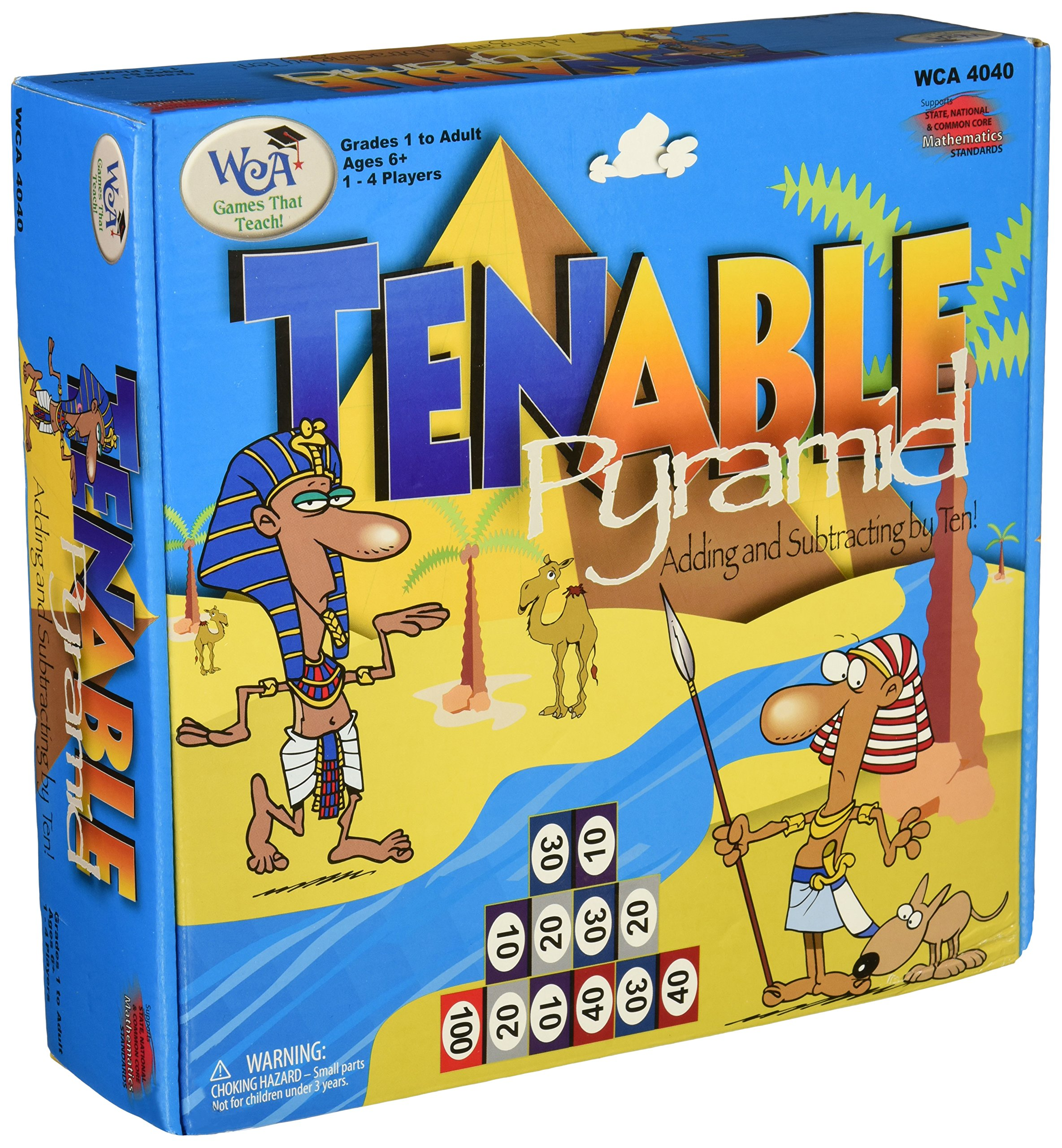 "Learning Advantage 4040 Tenable Pyramid Game, Grade: 1 to 6, 9"" Height, 2.5"" Width, 8.5"" Length"