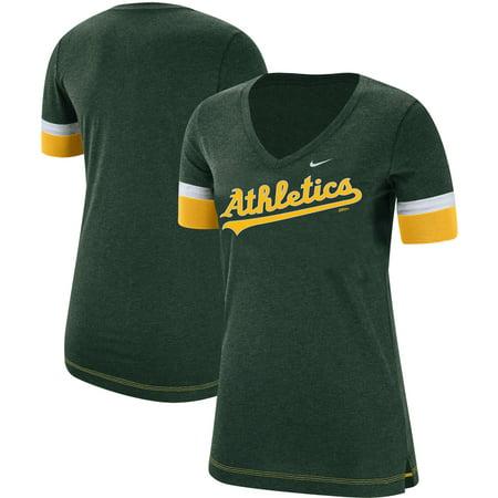 Oakland Athletics Nike Women's Mesh V-Neck T-Shirt -