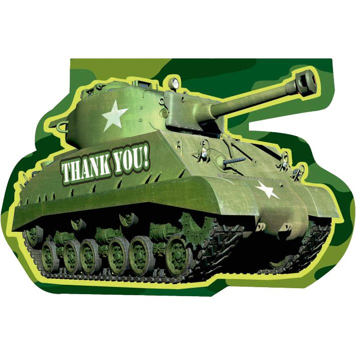 Camo Thank You Notes (6 Pack) - Party Supplies