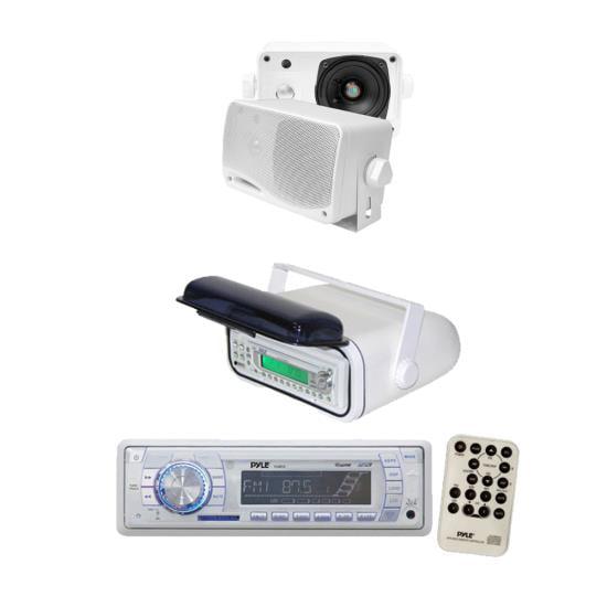 Pyle In-Dash Marine AM/FM USB/SD Stereo Player Receiver Universal Marine Housing