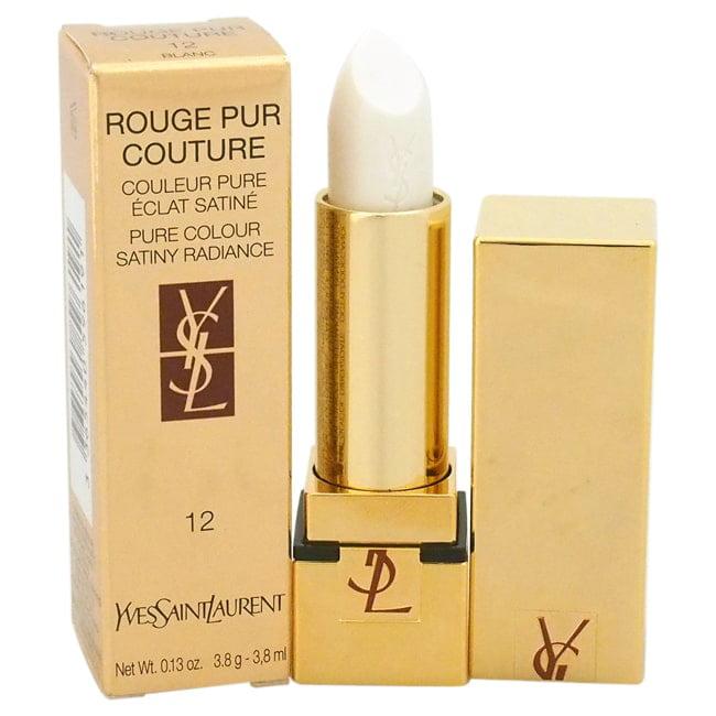 Yves Saint Laurent  Rouge Pur Couture Pure Colour Satiny Radiance #12 Blanc Lipstick