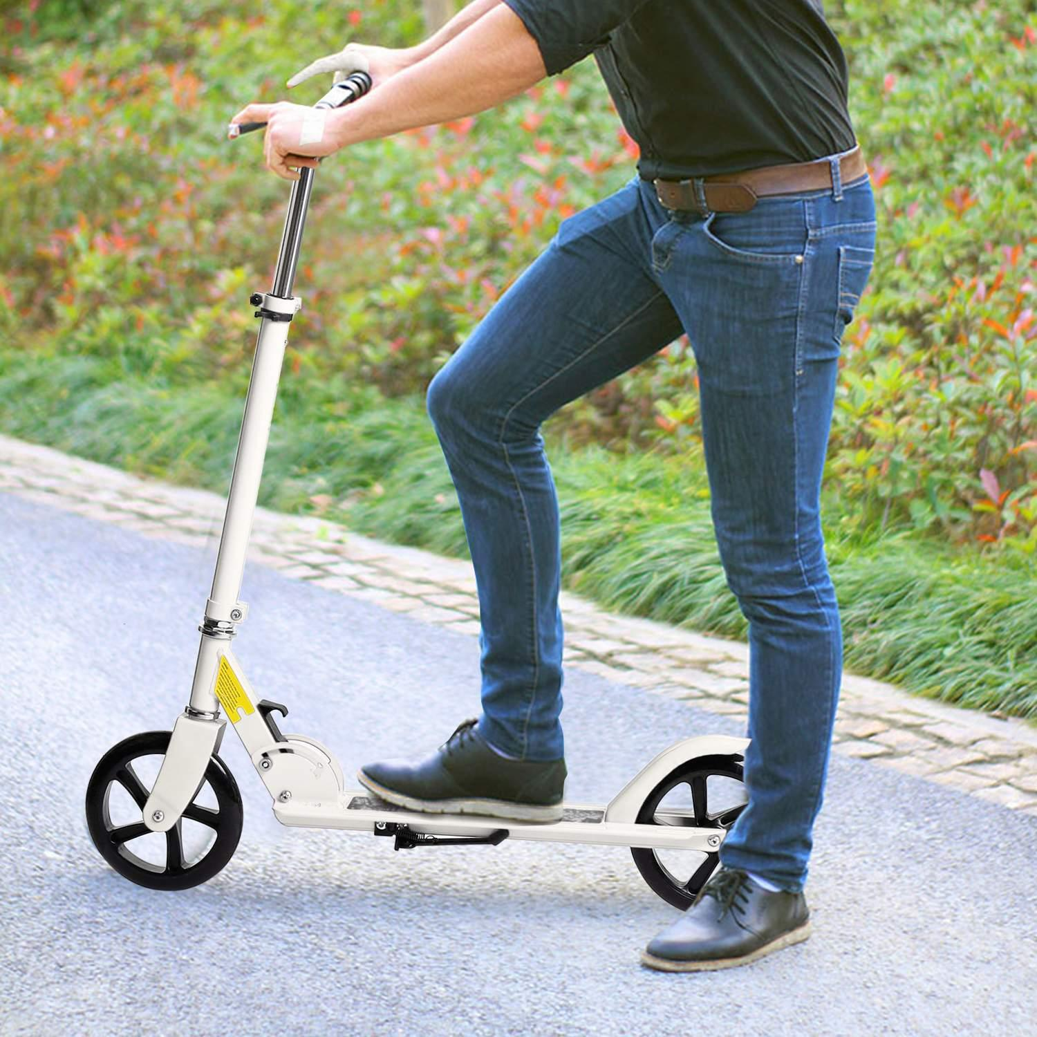 Easy Ride Pro 2-Wheel Folding Kick Scooter Adjustable Adult Scooter Aluminium Alloy by