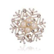 KABOER Snowflake Brooch Silver Christmas Winter Frozen Crystal Wedding Gift Snow Pin
