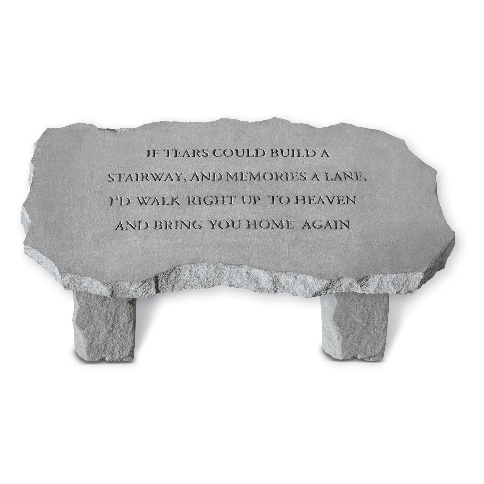 Kay Berry If Tears Could Build A Stairway Large Memorial Bench - 36 in. Cast Stone