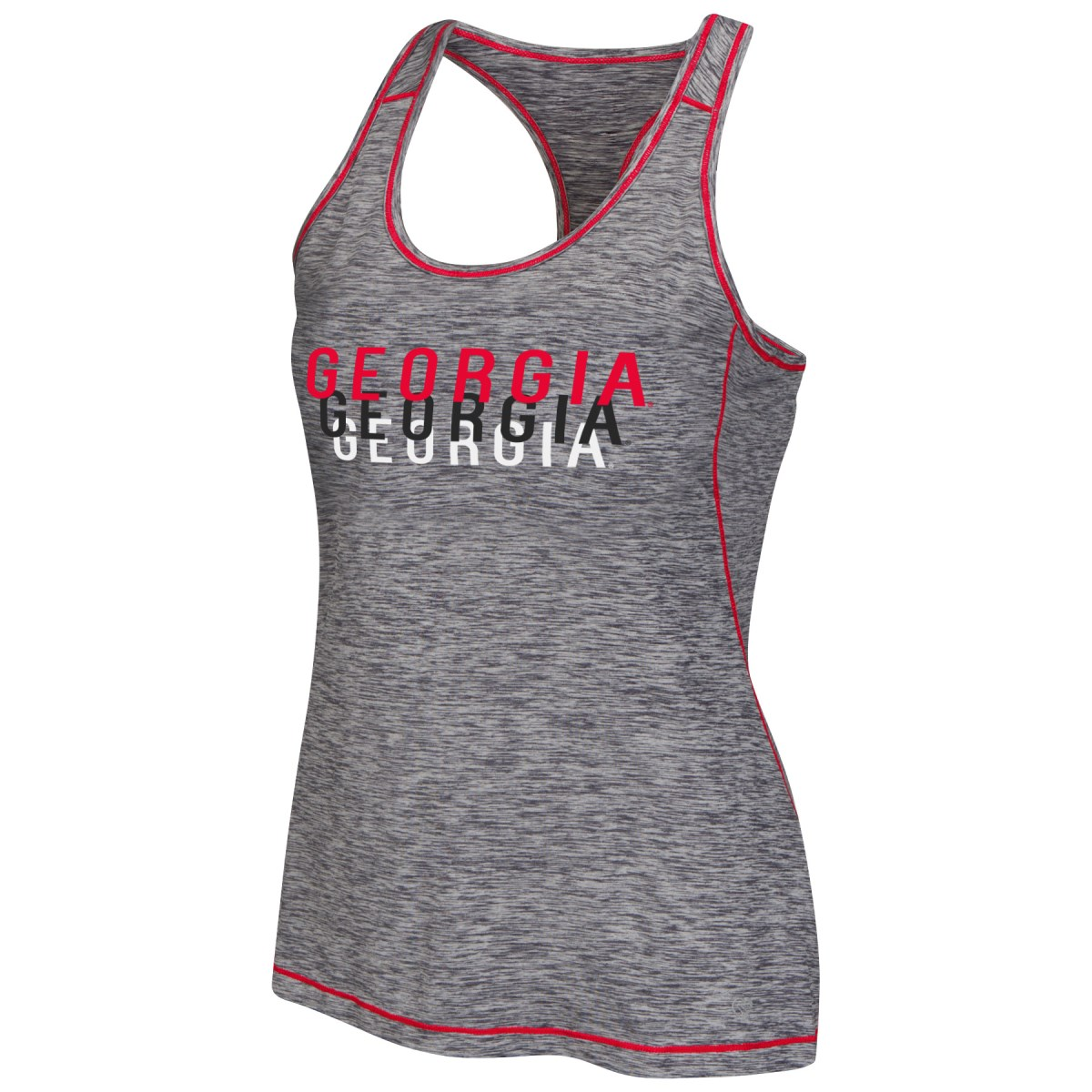 "Georgia Bulldogs Women's NCAA ""Race Course"" Performance Racer Back Tank Top by Colosseum"