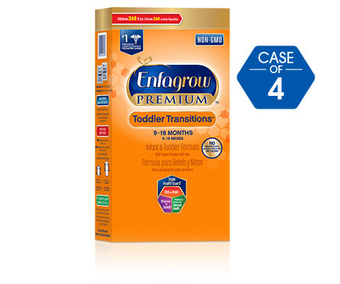 Enfagrow PREMIUM Toddler Transitions Formula, 28 oz Box, 4 Pack