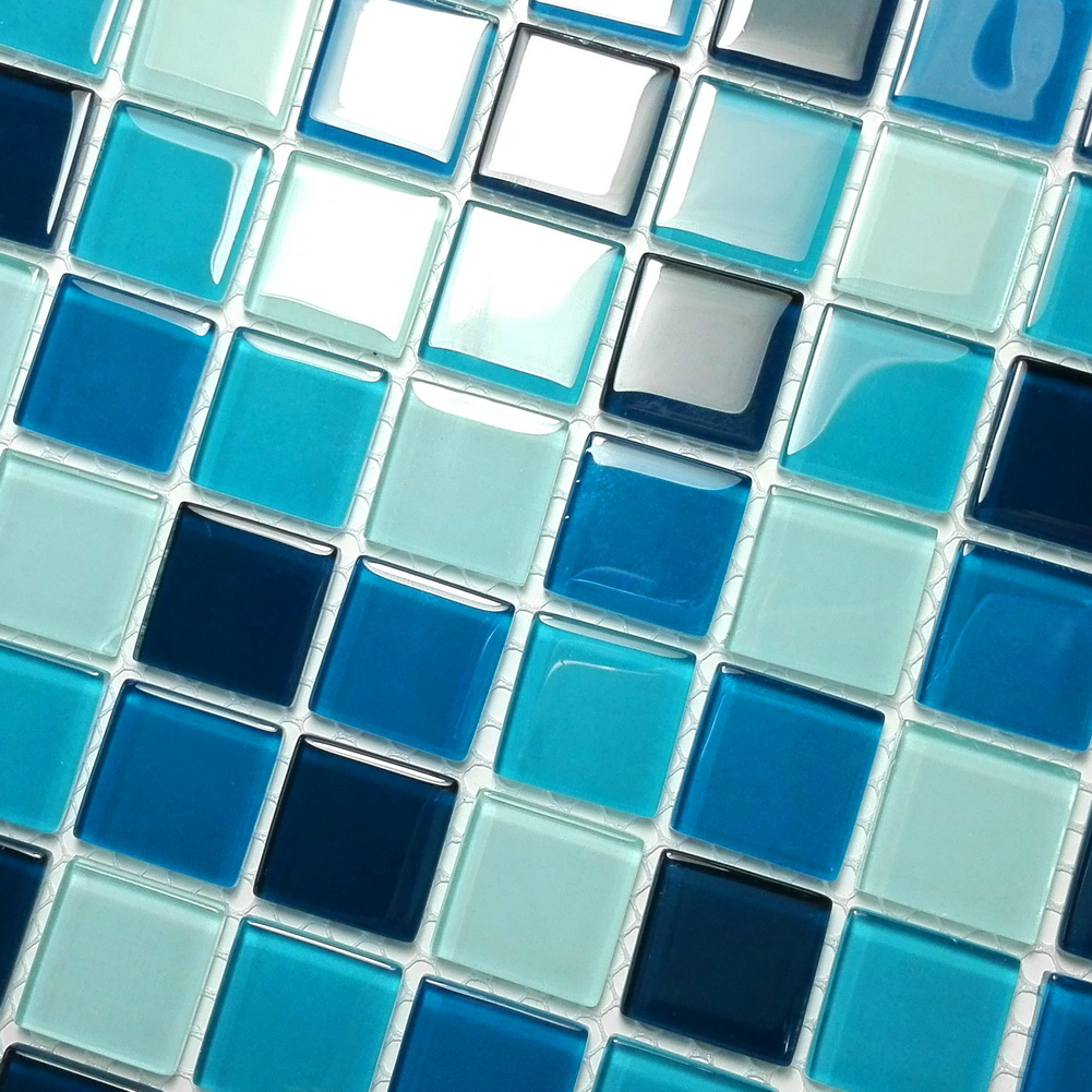 Blue Sea - 3-Dimensional Mosaic Decorative Wall Tile(6PC)