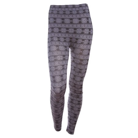 Women's Sexy Floral Leggings with Lace Trim Pattern, Footless, Grey (Lace Ruffle Leggings)