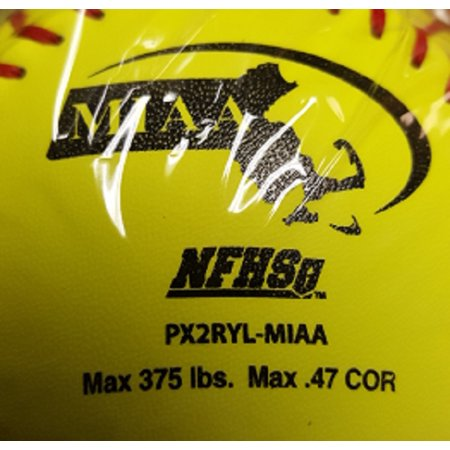 """1 Dozen Worth PX2RYL 12"""" Red Dot NFHS Softball Fastpitch Yellow Leather Cover"""