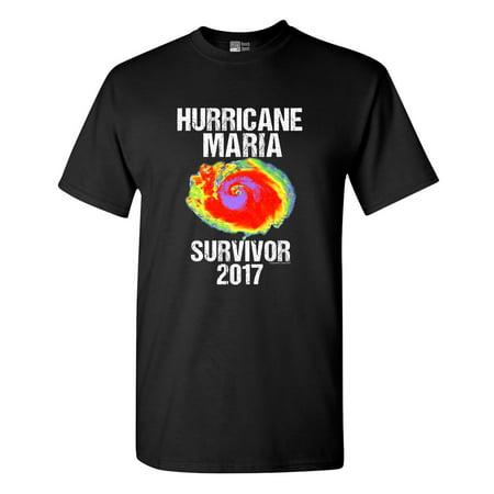 Hurricane Maria Survivor 2017 Dt Adult T Shirt Tee