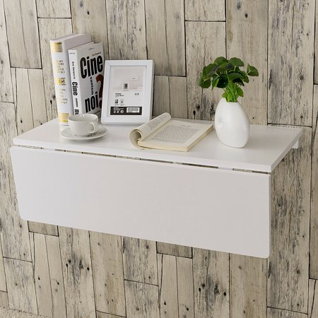 Gymax Wall Mounted Drop Leaf Table