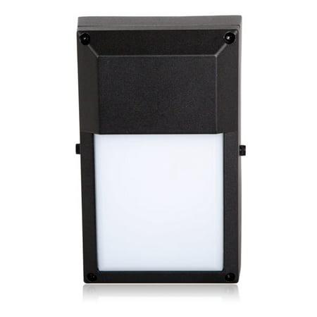 Maxxima  Black Outdoor LED Wall Pack Light, 700 Lumens, 3000K Warm White, Rectangular, Energy (Lights Of America Led Outdoor Wall Pack Light)