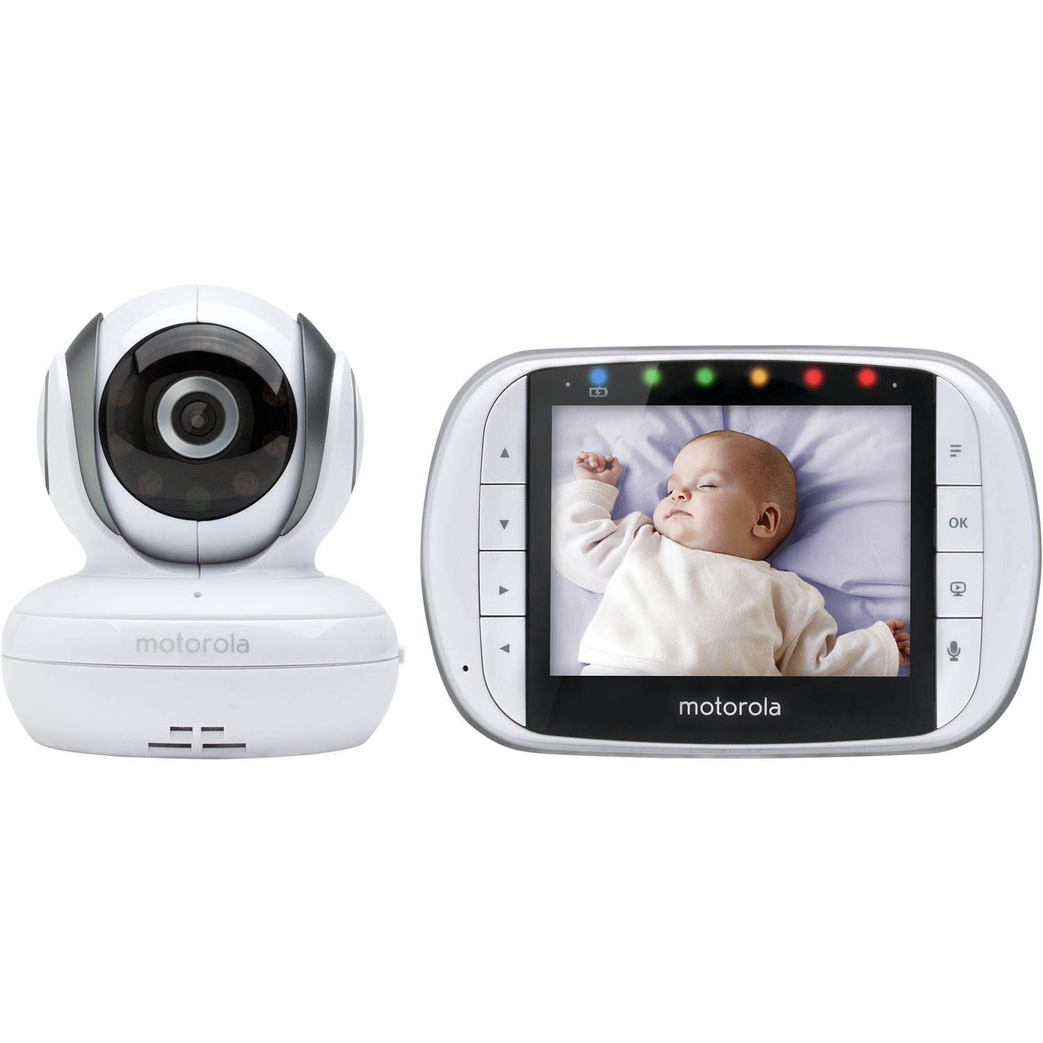 Remote Wireless Video Baby Monitor with 3.5-Inch Color LCD