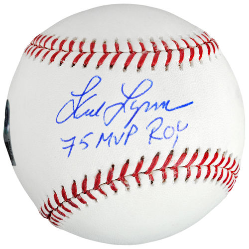 "MLB - Fred Lynn Autographed Baseball | Details: ""75 MVP/ROY"" Inscription"