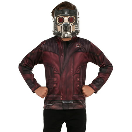 Guardians Of The Galaxy Vol. 2 Boys Starlord Costume Top Shirt With Mask