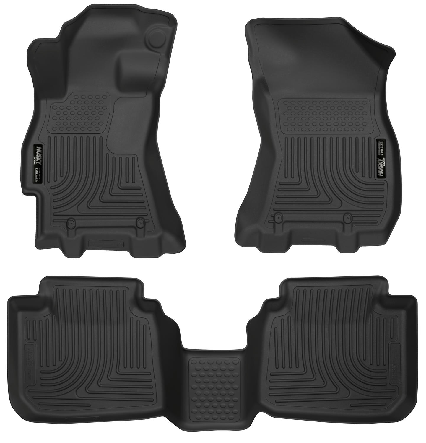 Husky Liners Front & 2nd Seat Floor Liners Fits 15-18 Legacy/Outback