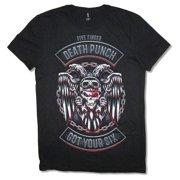 Five Finger Death Punch Mechanic Bonehead Got Your Six Black Shirt
