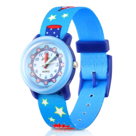 Kids Boys and girls Time Machines Digital Watch Wristwatch, Adjustable Fabric Strap Time Teacher Gift for  Children birthday present, Christmas gifts