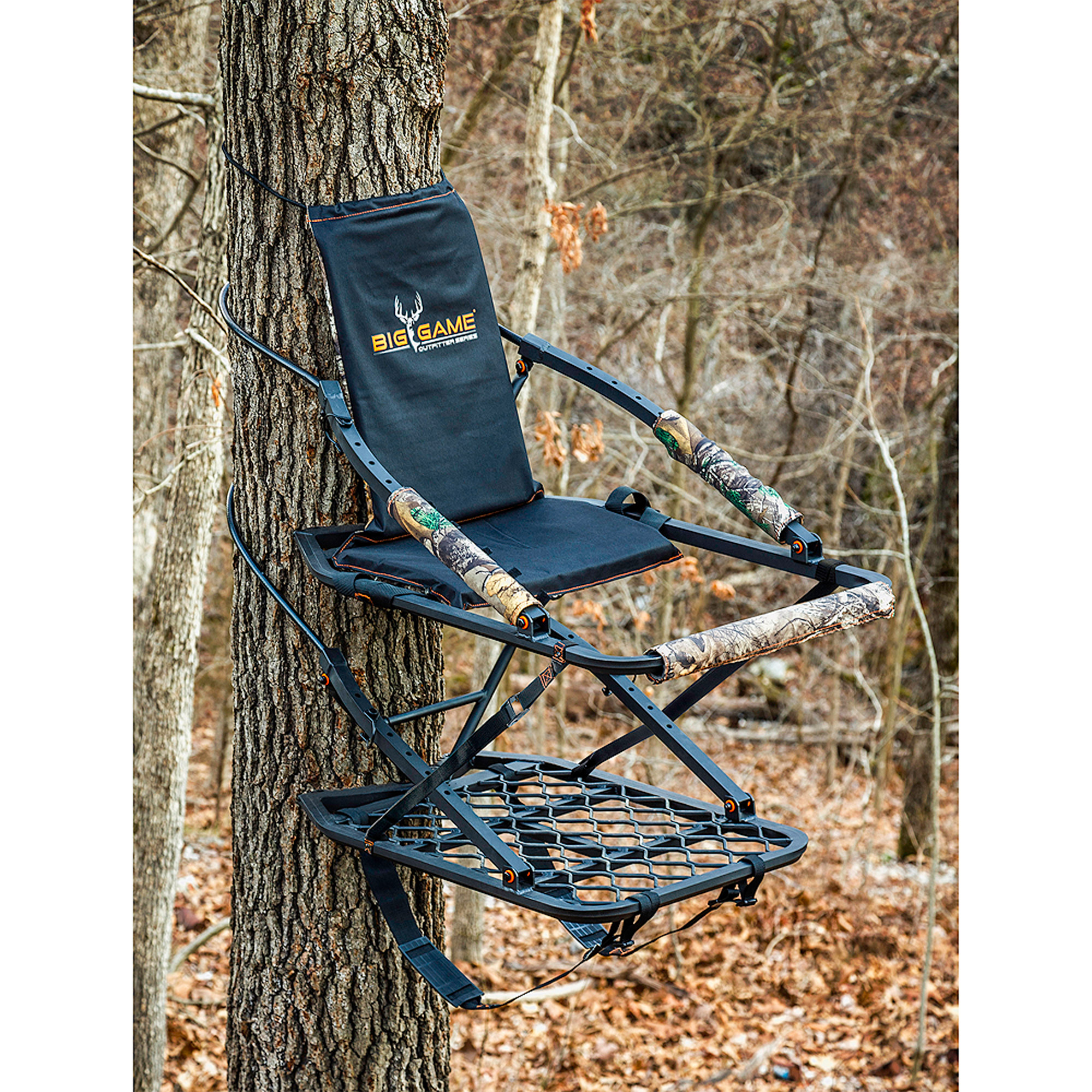 Big Game Deluxe Lightweight Aluminum Climber with Padded Cushion