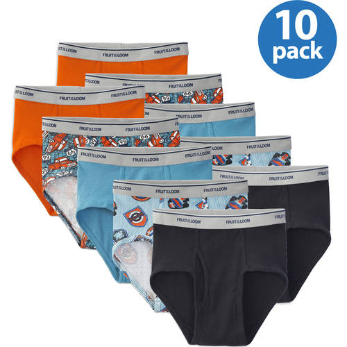 Fruit of the Loom Boys' Fashion Briefs, 10-Pack