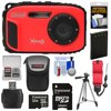 Coleman Xtreme3 C9WP Shock & Waterproof 1080p HD Digital Camera (Red) with 32GB Card + Battery + Case + Float Strap + Tripod + Kit