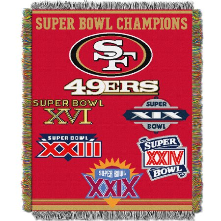 San Francisco 49ers The Northwest Company 48'' x 60'' Commemorative Woven Tapestry Throw - No Size
