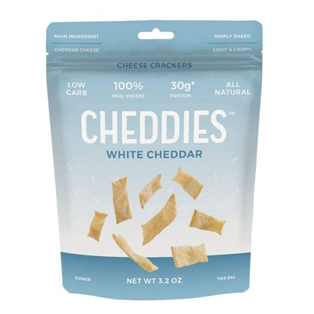Cheddies High Protein Low Carb Cheese Crackers - White
