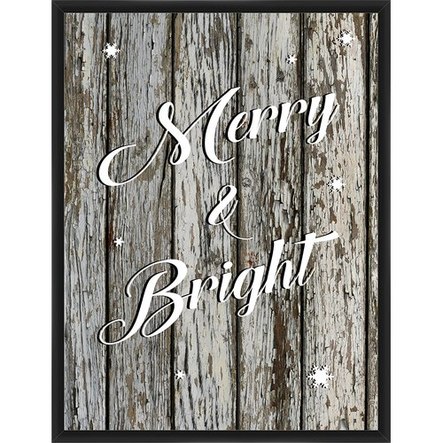 PTM Images Merry and Bright Framed Textual Art