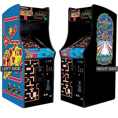 Ms  Pacman, Galaga - Classic Arcade - 24'' Upright Game Cabinet